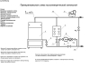 Схема принципиальная котельной с  газовым и электрическим  котлами